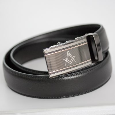 Masonic No Hole Rachet Belt