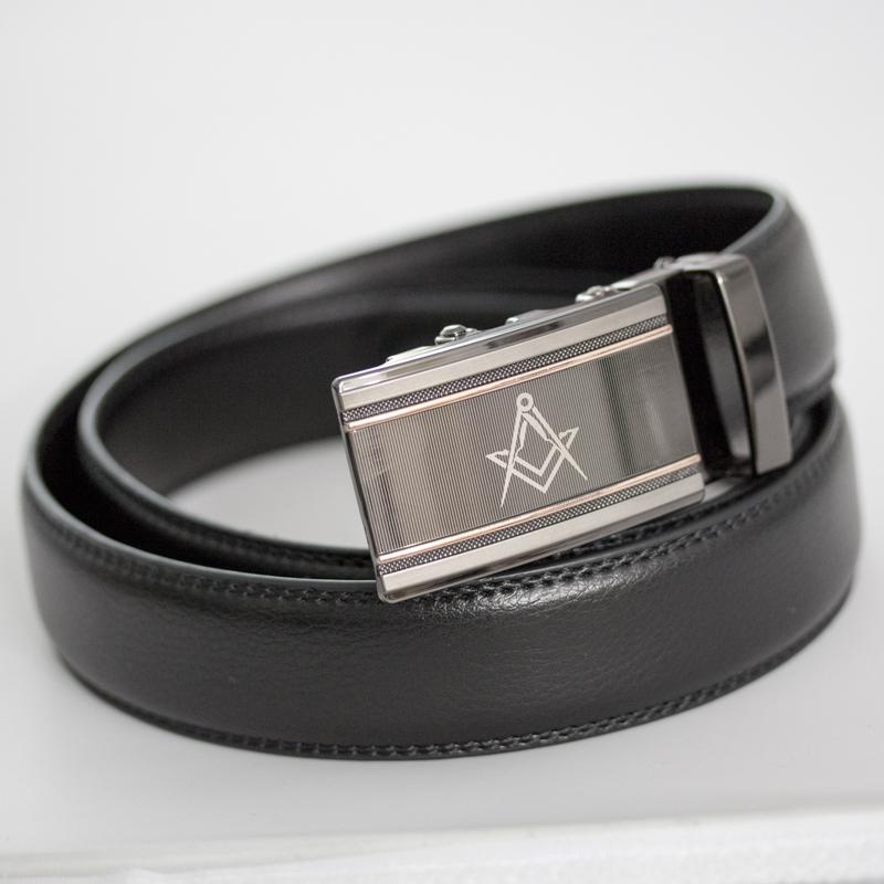 Masonic No Hole Rachet Belt